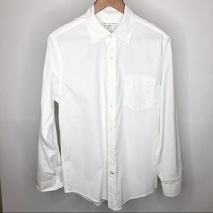 Club Room Slim Fit Solid White Dress Shirt, Size S
